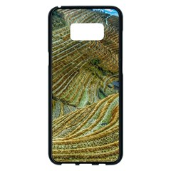 Rice Field China Asia Rice Rural Samsung Galaxy S8 Plus Black Seamless Case by Celenk
