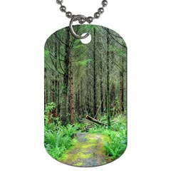 Forest Woods Nature Landscape Tree Dog Tag (two Sides)
