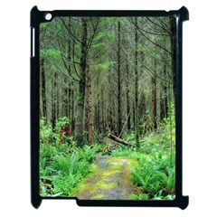 Forest Woods Nature Landscape Tree Apple Ipad 2 Case (black) by Celenk