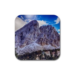 Rock Sky Nature Landscape Stone Rubber Square Coaster (4 Pack)