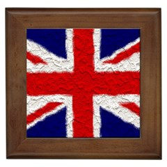 Union Jack Flag National Country Framed Tiles by Celenk