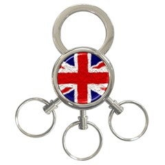 Union Jack Flag National Country 3 Ring Key Chains by Celenk