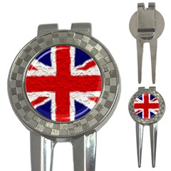 Union Jack Flag National Country 3-in-1 Golf Divots by Celenk