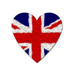 Union Jack Flag National Country Heart Magnet
