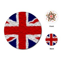 Union Jack Flag National Country Playing Cards (round)