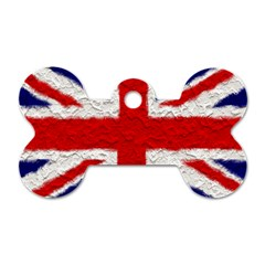 Union Jack Flag National Country Dog Tag Bone (two Sides)