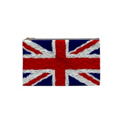 Union Jack Flag National Country Cosmetic Bag (small)  by Celenk