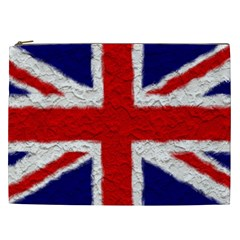 Union Jack Flag National Country Cosmetic Bag (xxl)  by Celenk