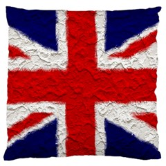 Union Jack Flag National Country Large Flano Cushion Case (one Side) by Celenk
