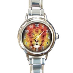 Fractal Lion Round Italian Charm Watch
