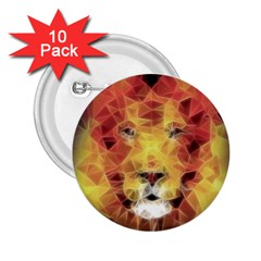 Fractal Lion 2 25  Buttons (10 Pack)  by Celenk