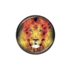 Fractal Lion Hat Clip Ball Marker by Celenk