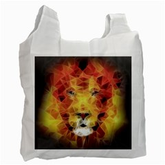 Fractal Lion Recycle Bag (two Side)  by Celenk