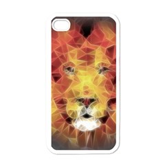 Fractal Lion Apple Iphone 4 Case (white) by Celenk