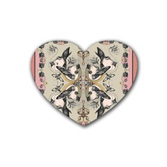 Vintage Birds Heart Coaster (4 Pack)