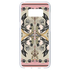 Vintage Birds Samsung Galaxy S8 White Seamless Case