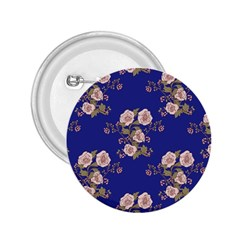 Ndigo Bedding Floral 2 25  Buttons by Celenk