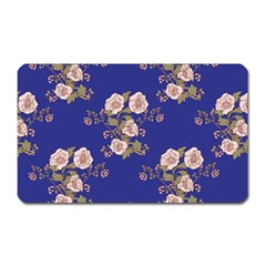 Ndigo Bedding Floral Magnet (rectangular) by Celenk