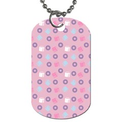 Milk And Donuts Pink Dog Tag (two Sides) by snowwhitegirl