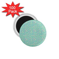 Light Teal Hearts 1 75  Magnets (100 Pack)  by snowwhitegirl