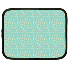 Light Teal Hearts Netbook Case (xxl)  by snowwhitegirl