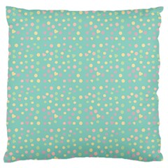 Light Teal Hearts Large Cushion Case (two Sides) by snowwhitegirl