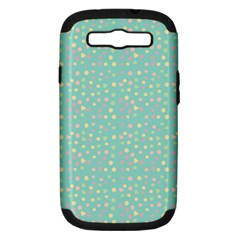 Light Teal Hearts Samsung Galaxy S Iii Hardshell Case (pc+silicone) by snowwhitegirl