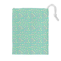 Light Teal Hearts Drawstring Pouches (extra Large) by snowwhitegirl