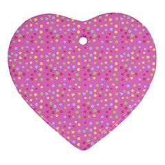 Pink Heart Drops Ornament (heart) by snowwhitegirl