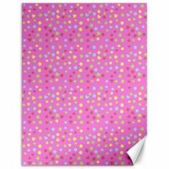 Pink Heart Drops Canvas 12  X 16   by snowwhitegirl
