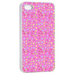 Pink Heart Drops Apple Iphone 4/4s Seamless Case (white) by snowwhitegirl