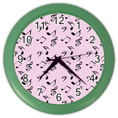 Pink Music Color Wall Clocks