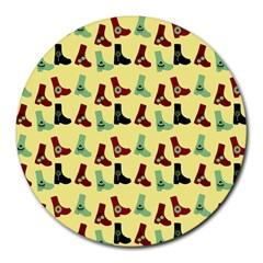 Yellow Boots Round Mousepads by snowwhitegirl