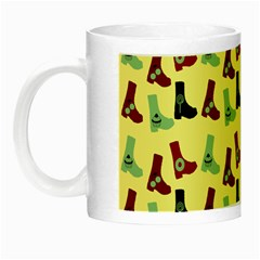 Yellow Boots Night Luminous Mugs by snowwhitegirl
