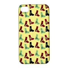 Yellow Boots Apple Iphone 4/4s Hardshell Case With Stand by snowwhitegirl