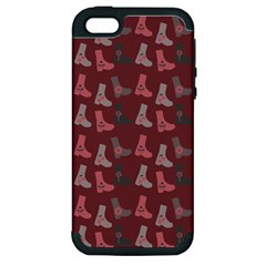 Rosegrey Boots Apple Iphone 5 Hardshell Case (pc+silicone) by snowwhitegirl