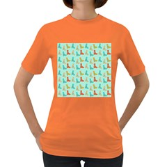 Blue Orange Boots Women s Dark T-shirt
