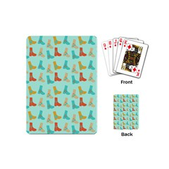 Blue Orange Boots Playing Cards (mini)  by snowwhitegirl