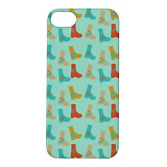 Blue Orange Boots Apple Iphone 5s/ Se Hardshell Case by snowwhitegirl