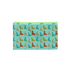 Blue Orange Boots Cosmetic Bag (xs) by snowwhitegirl