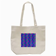 Neon Robot Tote Bag (cream)