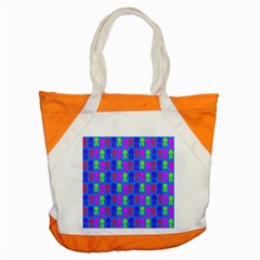 Neon Robot Accent Tote Bag
