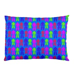 Neon Robot Pillow Case