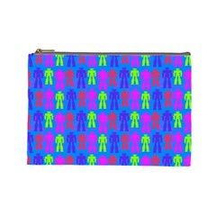 Neon Robot Cosmetic Bag (large)  by snowwhitegirl