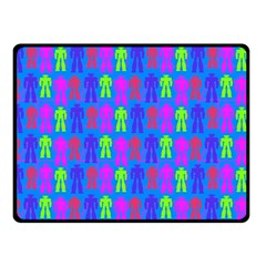 Neon Robot Double Sided Fleece Blanket (small)  by snowwhitegirl