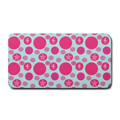 Blue Retro Dots Medium Bar Mats