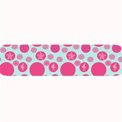 Blue Retro Dots Large Bar Mats