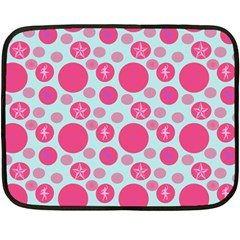Blue Retro Dots Fleece Blanket (mini)