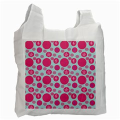 Blue Retro Dots Recycle Bag (one Side)