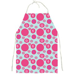 Blue Retro Dots Full Print Aprons